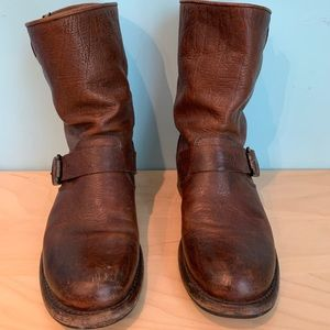 Frye Veronica Boots Brown Size 7 Buckle